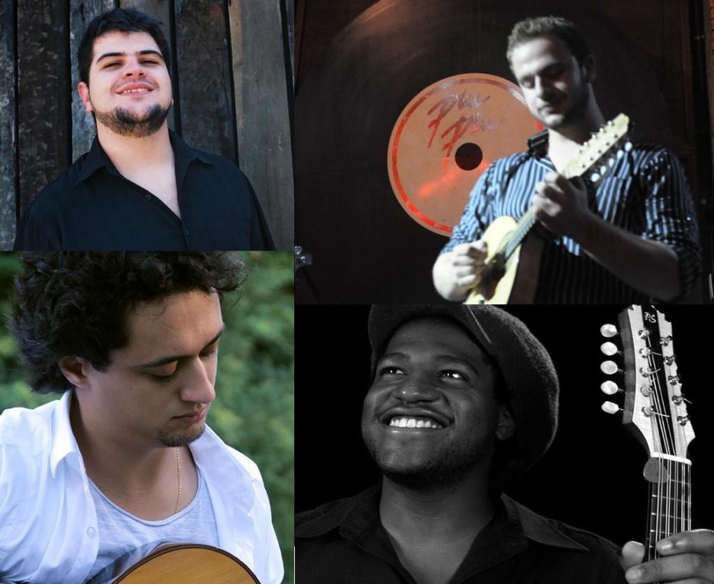 Fábio Peron (Bandolim de 10 cordas), Gian Correa (Violão de 7 cordas), Henrique Araujo (Cavaquinho e Bandolim) e Douglas Alonso (Percussão)