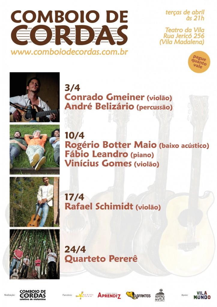 Agenda Comboio de Cordas no Teatro da Vila - Abril/2012